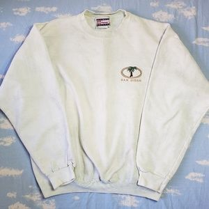 Vintage San Diego Dyed Embroidered Sweater Medium